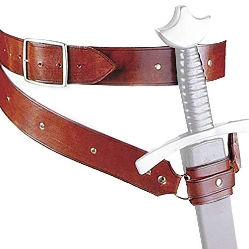 Cinto de espada medieval, cinto de couro sintético, sapo, espada, sapo, acessório de fantasia de espada de couro renascentista, cinto ajustável para homens e mulheres