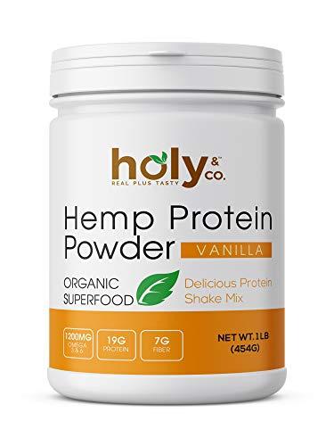 Holy and Co. Organic Cold-Pressed Hemp Seed Protein Powder, Hi-Fiber + Amino Acid