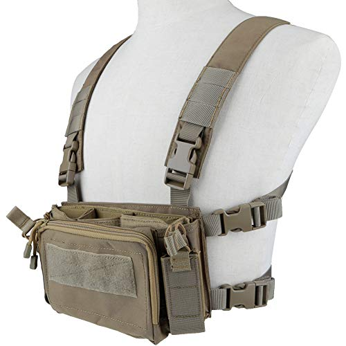 Camouflage Tactical Vest Airsoft Ammo Chest Rig 5.56 9mm Magazine