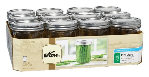 Wide Mouth Jars with Lids and Bands