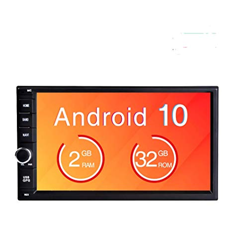 Freeauto Android 9.0 2 DIN Autoradio Universal, GPS Navegador Radio para Coche estéreo Doble soporta Bluetooth, Control Volante, WiFi, Mirror-Link, Subwoofer, USB, AV-out