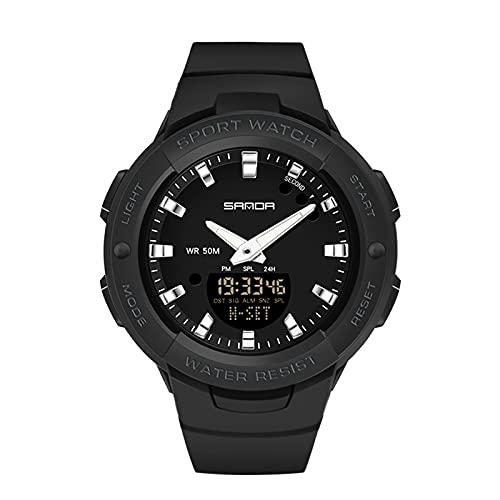Relojes Deportivos al Aire Libre, Reloj Cronógrafo Impermeable Moda Reloj Casual con Timing Modo Alarma Soporte Dual Zona Horaria Pantalla, para Estudiantes Hombre,Set4