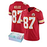 NQH Kelce Rugby Jersey Rugby Shirt, Kelce 87# Chiefs Rugby Training Shirts, Convient pour Divers Sports Summer Short Sleeves (s-3xl)-Red-XXL