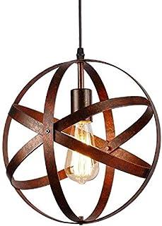 Lampe Suspension Vintage, Retro Lustre Plafonniers, E27 Industrielle éclairage de Plafond pour restaurant bar salle à mang...
