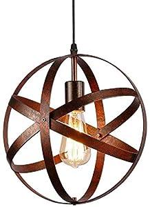 Lámpara de Techo Vintage,Lámparas Colgantes Industriales de Metal E27 para Comedor, Barra, Café
