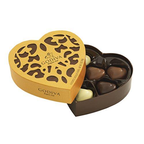 Godiva, Coeur Iconique bombones surtidos caja regalo corazón 6 piezas, 65g