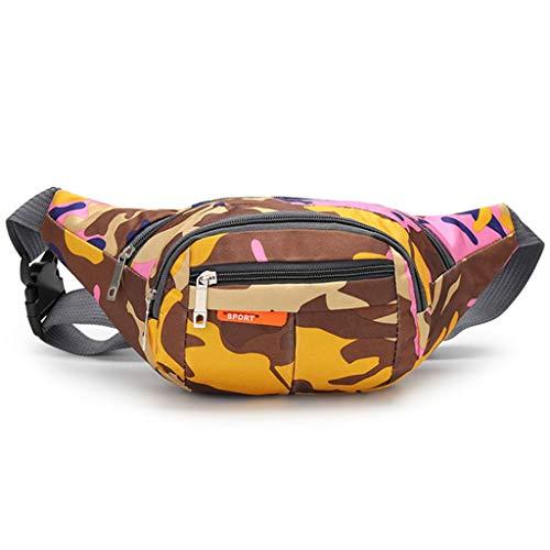 Q-HL Bauchtasche Gürteltasche Laufgürtel mit Wasserdicht Einstellbare Elastikband, Sweatproof Waistpacks mit großer Kapazität, ideal for Wandern, Outdoor-Aktivitäten usw.