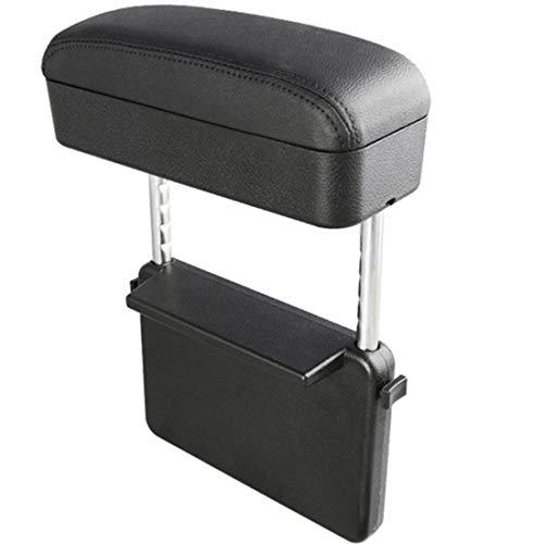 YGTMV Caja De Almacenamiento Reposabrazos De Coche Ajustable, Codera, Organizador De Espacio De Asiento Automático, Carga Inalámbrica con USB,A