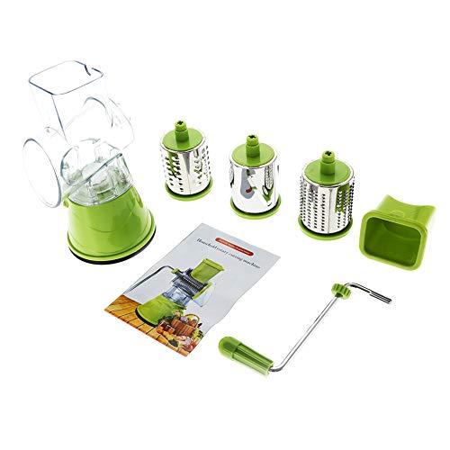 Trituradora de acero inoxidable, rallador de queso de acero inoxidable, fácil de usar, multiusos para la cocina en el hogar (verde)