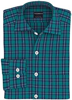 Tailorman Green Blue Tartan Shirt(Green)