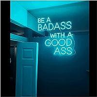 顧客は、グッズネオンライトサイン、アート装飾的なライトアップサインのサインを備えたパブストアクラブゲームルームの壁の装飾ネオン (Color : Blue, Size : 50X50CM)