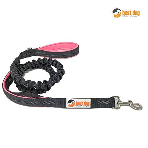 best dog Premium Hundeleine für große Hunde (Pink-Grau)