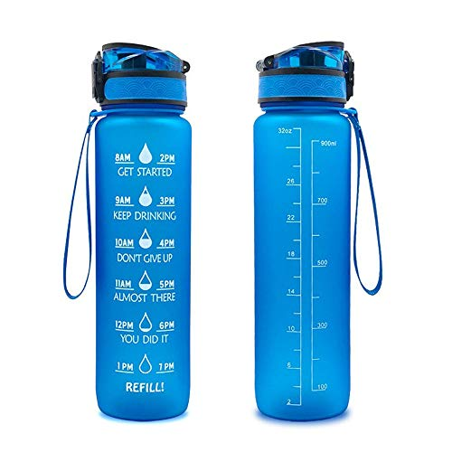 Great Gear Infuser Water Bottle Leak Proof Flip-top Sport Water Bottle BPA-Free Tritan 25 Oz (Blue)