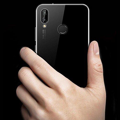 Beetop Kompatibel Mit Huawei Honor Play Hülle, Beetop Schutzhülle Handyhülle Transparent Weiche Silikon TPU Rückschale Case Cover für Huawei Honor Play - Transparent - 4