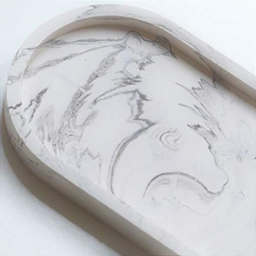 Atelier Ideco - Jesmonite Marbled Black and White Ovale Tray
