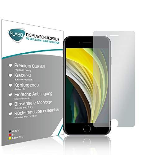 Slabo 4 x Bildschirmschutzfolie für iPhone SE 2020, iPhone 8, iPhone 7, iPhone 6S, iPhone 6 Bildschirmfolie Schutzfolie Folie Zubehör No Reflexion MATT