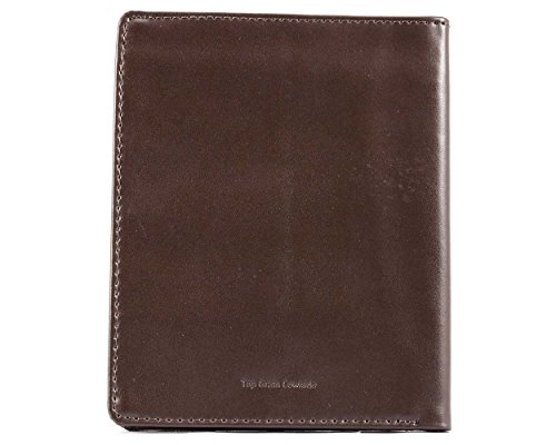 Big Skinny Men's Hipster Leather Bi-Fold Slim Wallet, Holds Up to 40 Cards, Brown