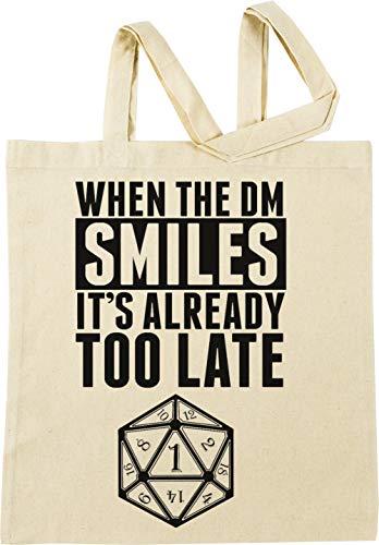 Vendax When The DM Smiles Its Already Too Late Beige Einkaufstasche
