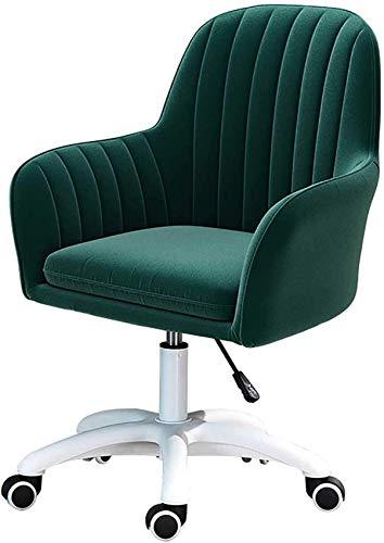 N/Z Living Equipment Fauteuil de Bureau Velvet Groupe Président Home Office Chaise réglable pivotant de roulement Vanity Chaise avec roulettes pour Fille Chambre Study Room Accueil