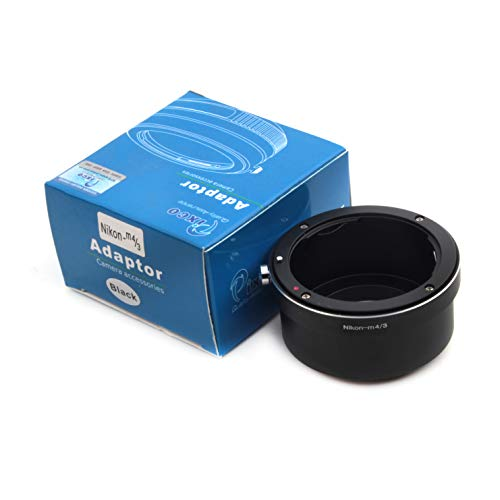 Pixco Adaptador de lente PRO para Nikon F color dorado a Micro Cuatro Tercios 4/3 Panasonic GX9 GF10 GH5S G9 GX850 GX800 Olympus E-M1X E-PL9 E-M10 III E-M1 II E-PL8