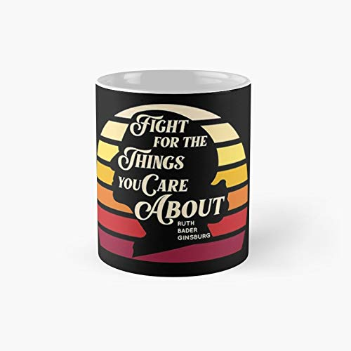 Notorious Rbg Classic Mug - Gift The Office 11 Ounces Funny White Coffee Mugs-nilinkep
