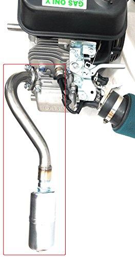 Center Rear Exhaust With Muffler for: Predator 212cc, GX160, GX200