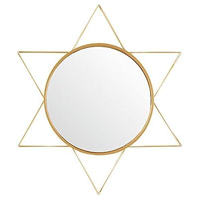 Amazon Brand – Rivet Modern 3-D Star Shaped Metal Mirror Home Decor, 22.5 Inch Height, Gold Finish