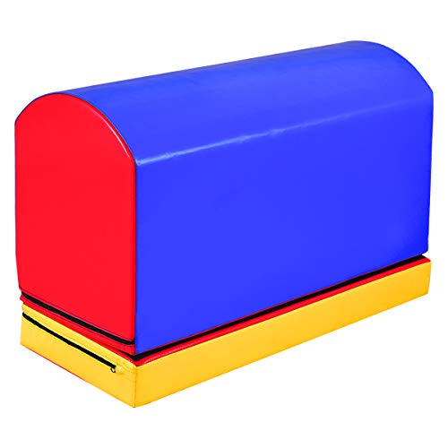 """Goplus Mailbox Tumbling Aid Trainer Portable Jumping Box Lightweight Gymnastics Trainer Equipment for Home, Gym Exercise (36"""" x 16"""" x 25"""", with Heightening Mat)"""