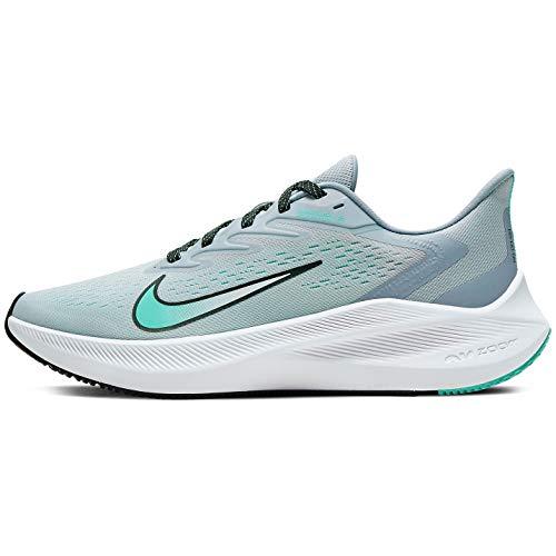 Nike Womens Zoom Winflo 7 Casual Running Shoe (Sky Grey/Black-Obsidian Mist, 8.5)
