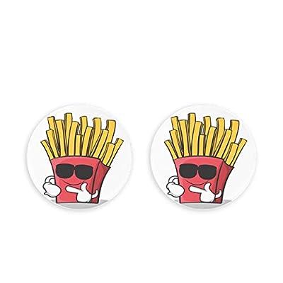ALALAL Dessin animé Fast Food Frites aimants pour réfrigérateur 2 pièces décapsuleur pour Artisanat Bricolage Casquette Science réfrigérateur Aimant pour réfrigérateur Note Fixe