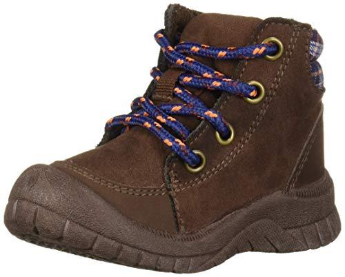 OshKosh B'Gosh Boys' Benito Ankle Boot, Chocolate, 12 M US Little Kid
