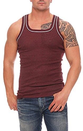 Cocain underwear 4, 5, 6 oder 12 Stück dunkelfarbige Herren-Unterhemden Vollachsel Achselhemden super weich Feinripp Gr. 5 (M) - 12 (6XL) (3XL, 12 Unterhemden/Farben Gemischt)