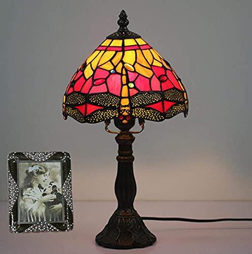 BQFLZY Lámparas de Mesa de banquero de la Vendimia Lámpara de Mesa de Estilo de Tiffany Lámpara de Escritorio de Estilo de libélula para Estudio Dormitorio de la Oficina del hogar