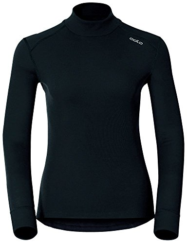 Odlo Damen T-ShirtL/S Turtle Neck Active Originals W Unterhemd T-Shirt, Schwarz (black),M
