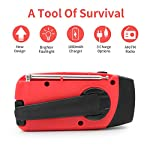 Wind Up Solar Radio,Emergency Radio Crank Powered Radio with Flashlight Torch,Rechargeable USB Phone Charger by…