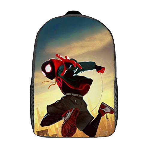 Miles Morales Backpack 17inch Student School Bag Durable Daypack Unisex