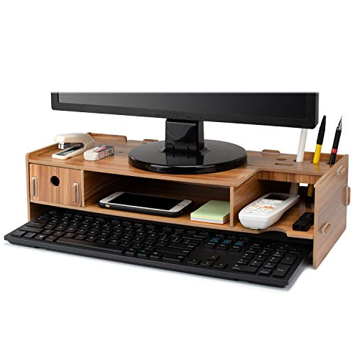 Tonsmile Wood Monitor Stand, Mul...