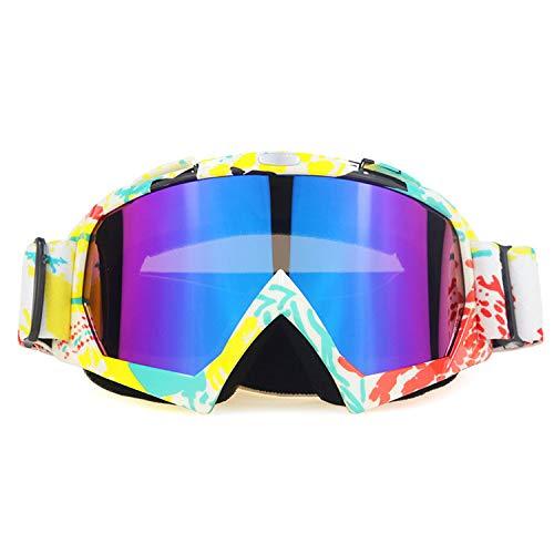 Blendschutz Skibrille, Belüftete Snowboard Sonnenbrille Bequem für Männer Frauen Jugend, Helm Kompatibel, Antibeschlag, Schlagfest, Winddicht (A)