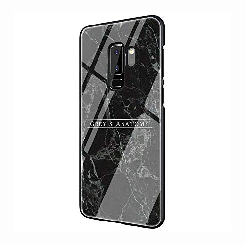 American TV Greys Anatomy Tempered Glass TPU Black Cover Case for Samsung Galaxy S7 Edge S8 S9 Plus S10 Note 8 9 (G6,for Samsung Note 8)