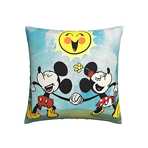 wteqofy Mic-Key Mou-se Pillow Covers Cushion Covers Pillowcase Home Decorations for Sofa Couch Bed Chair Decor