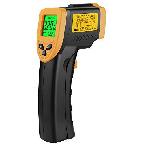 DT-8550 - Termómetro infrarrojo digital portátil sin contacto, con grado de emisión ajustable