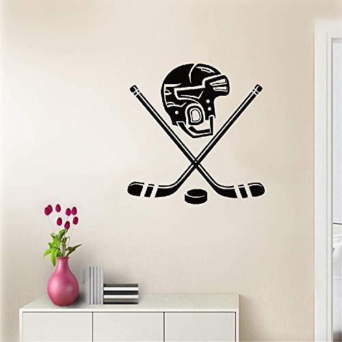 Wandtattoo Schlafzimmer Persönlichkeit Eishockey Helm Aufkleber Lustige Sport Aufkleber Dekoration Für Jungen Schlafzimmer Für Wohnzimmer