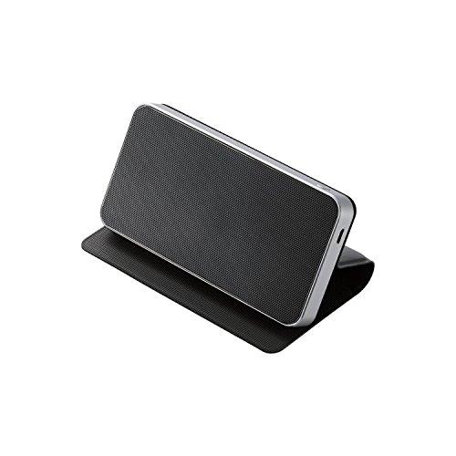 エレコム コンパクトワイヤレススピーカー Bluetooth対応/フラップケース付き ブラック LBT-SPTR02AVBK