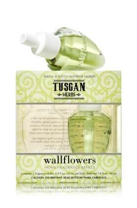 BuddyDee Bath Body Works Tuscan Herbs Wallflowers Home Fragrance Refills...