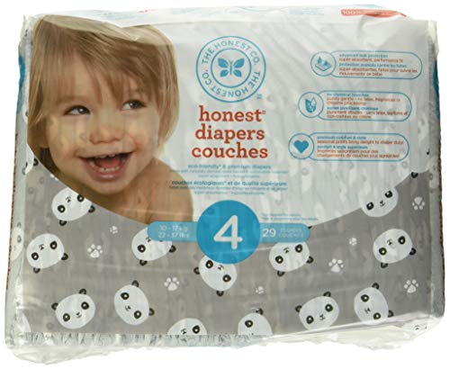 The Honest Company Disposable diapers, pandas print polybag, size 4, 29 Count