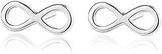 Infinity Tiny 925 Sterling Silver Small Stud Earrings for Women Teen Girls Sensitive Ears Cute Mini Huggie Post