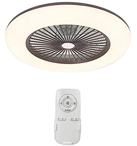 Lixada Deckenventilator mit Beleuchtung LED-Licht Einstellbare Windgeschwindigkeit Dimmbar mit Fernbedienung 36W Moderne LED-Deckenleuchte für Schlafzimmer Wohnzimmer Esszimmer, Braun