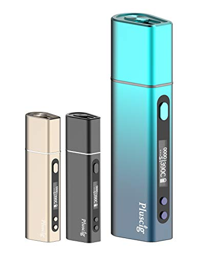 Pluscig S9 正規品 電子タバコ 人気 禁煙 加熱式タバコ 互換機 本体 記録 吸引時間 予熱5秒 本数制御 40-50本連続吸引 3500mah 自動クリーニング 三ヶ月保障あり (ブルー)