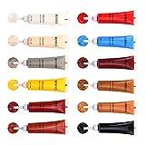 YIDE Kits de reparación de Cuero,12 Colores Crema De Reparación De Cuero, Kit de reparación para Asientos de Automóvil,Muebles, Abrigos de sofá, Chaqueta de Cuero