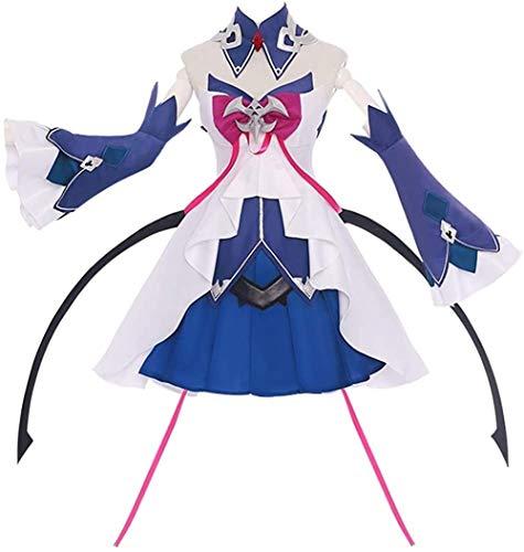 Honkai Impact 3 Seele Vollerei Cosplay Costume Lolita Dress Halloween Costume Full Set (Female L,Size)